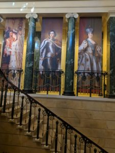 Staircase at the Queens Gallery during Russia exhibition