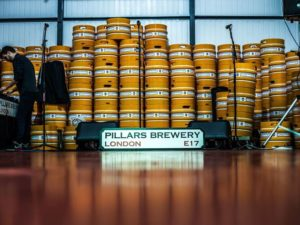 Beer barrels at Pillars Brewery Walthamstow