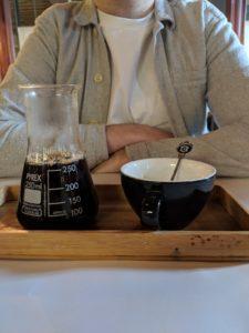 Coffee snob set up at Caravan