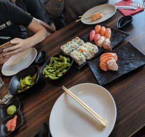 Sushi Mania lunch Sushi