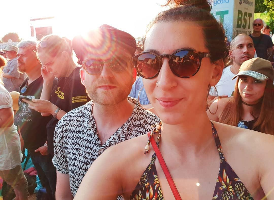 Jess and Tim at a festival