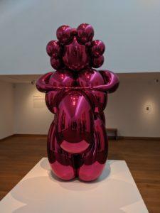 Jeff Koons Steel Balloon pink