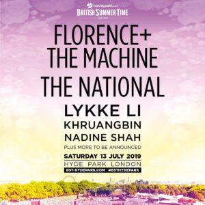 BST Hyde park festival line up