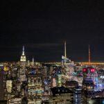 The New York Skyline at night