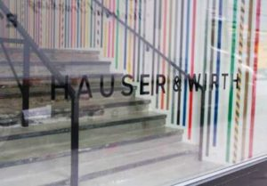 Hauser and Wirth window