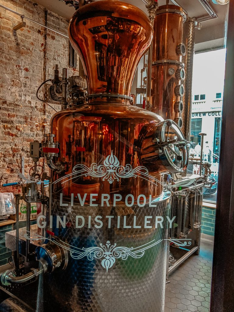 The distiller at liverpool gin distillery