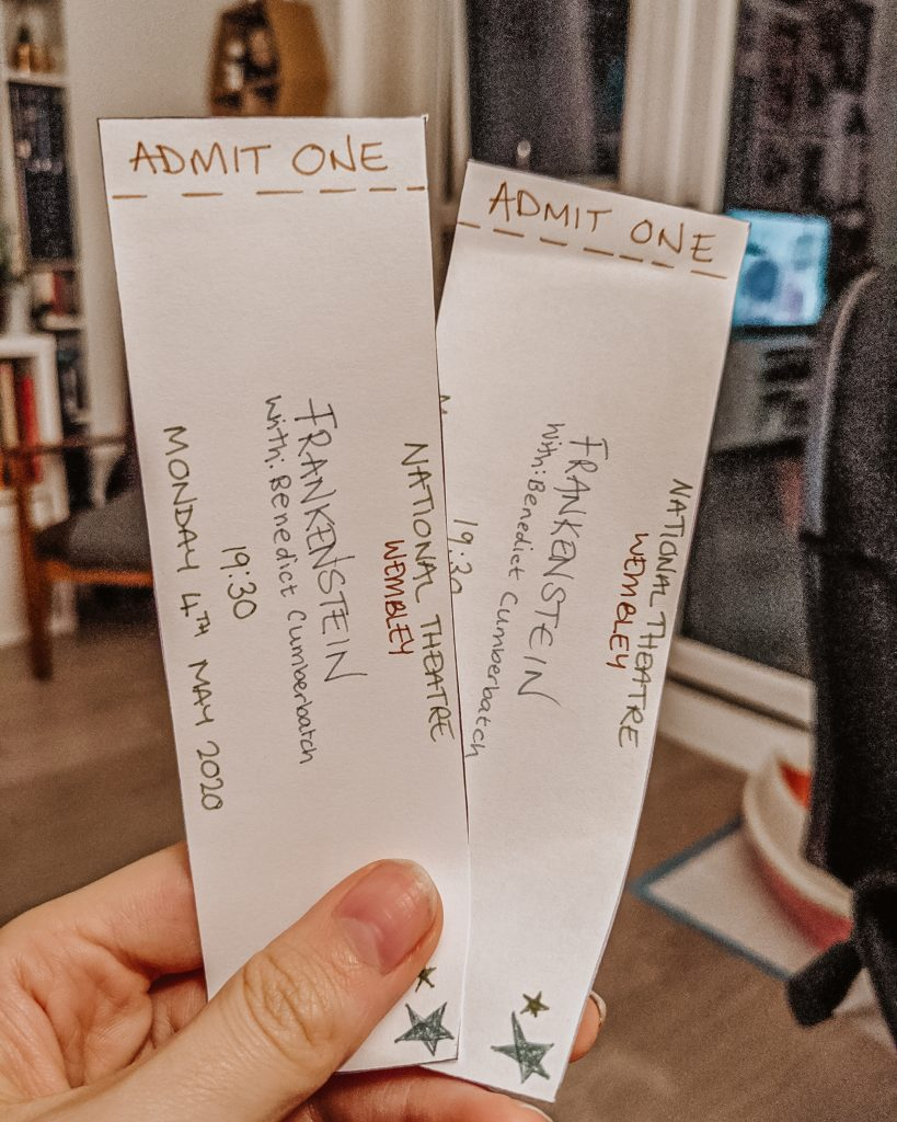 Tickets theatre at home